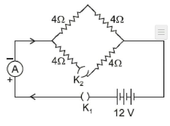 Calculate the electric current in the given circuit when(i ...