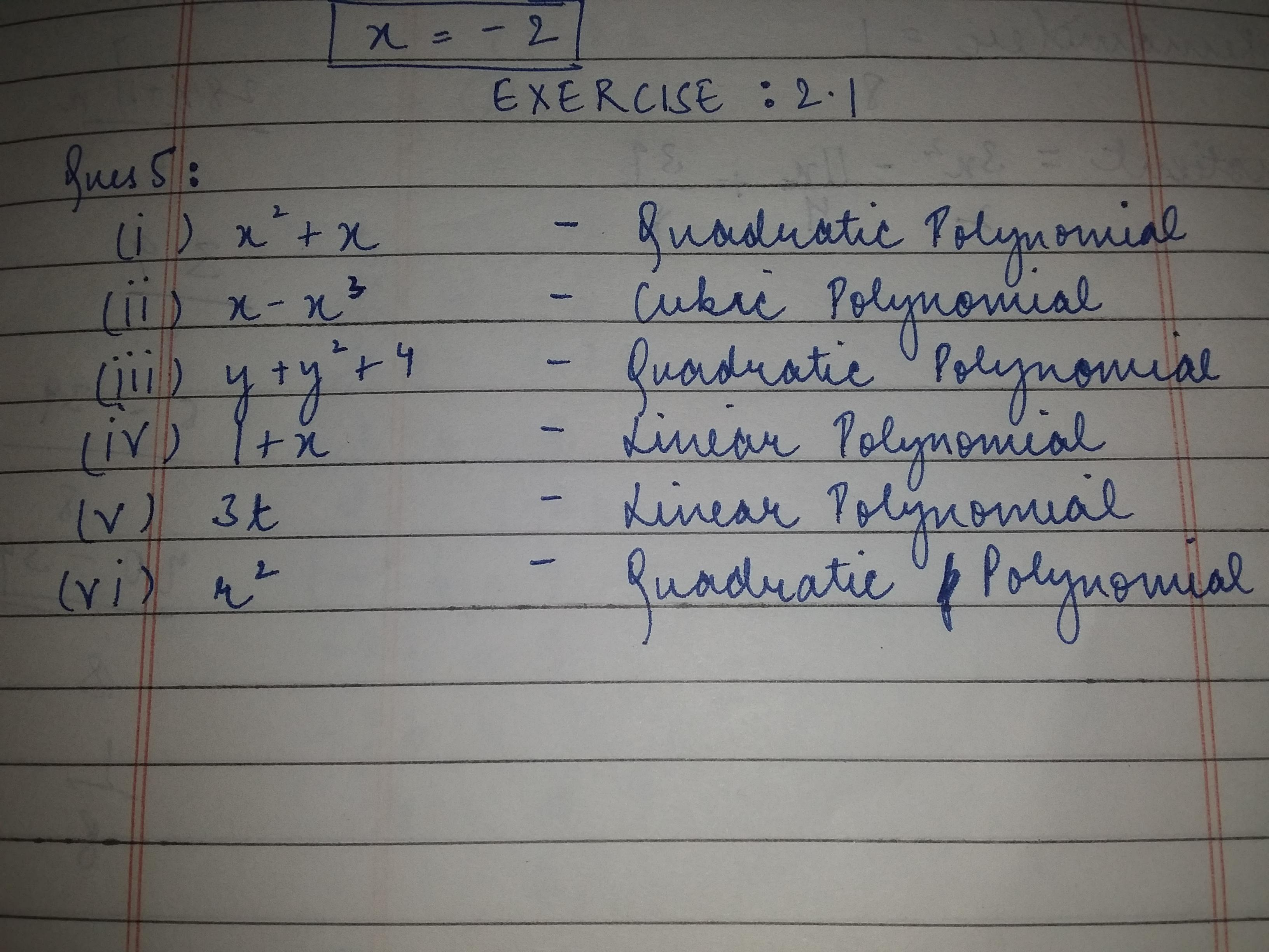 class 9 ch 2 ex 2.1 question 5 - Brainly.in