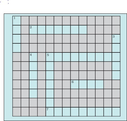 Solve the following crossword puzzle with the clues given ...