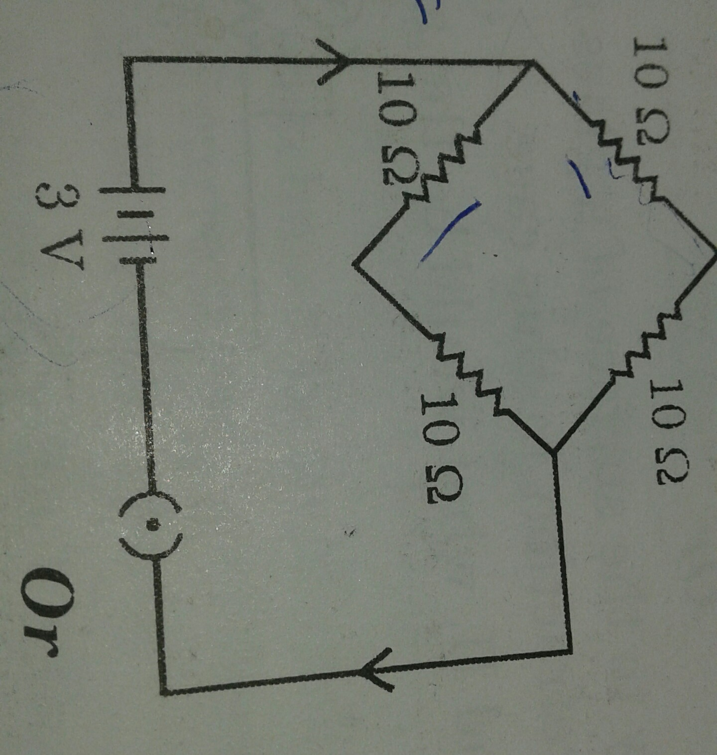 Find Current Drawn From A Battery By The Network Of 4 Resistors How Resistor Looks Are Shown On Schematics Download