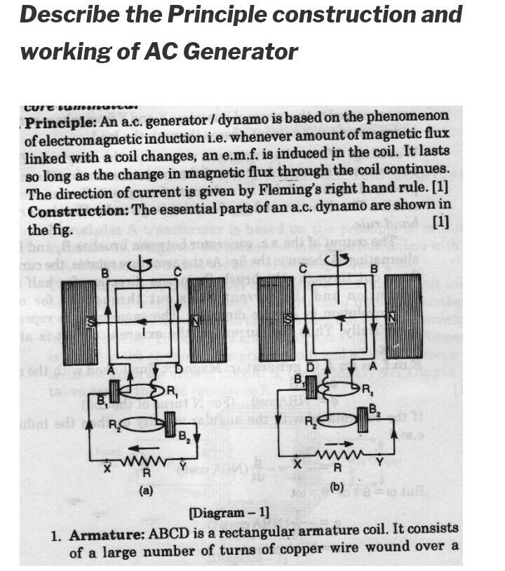 what are the working and construction of AC generator