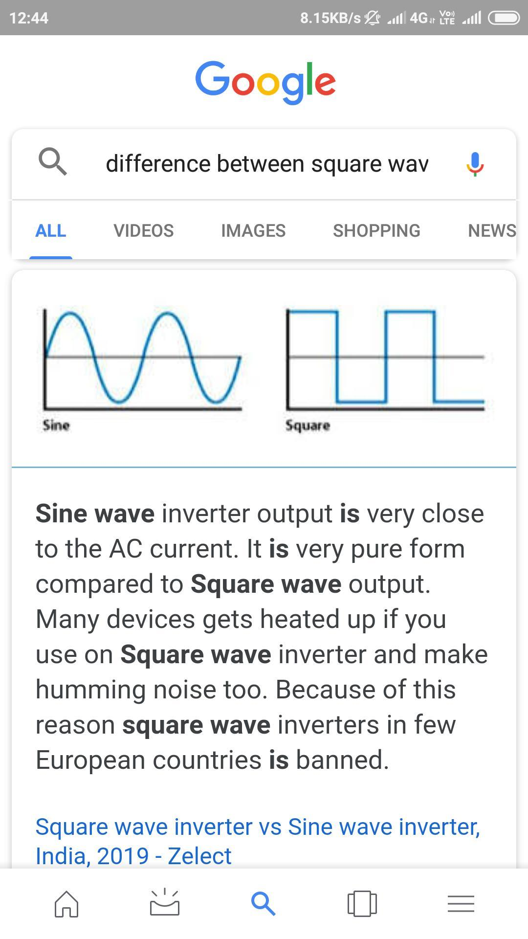 Difference between square wave and sine wave inverter microtek