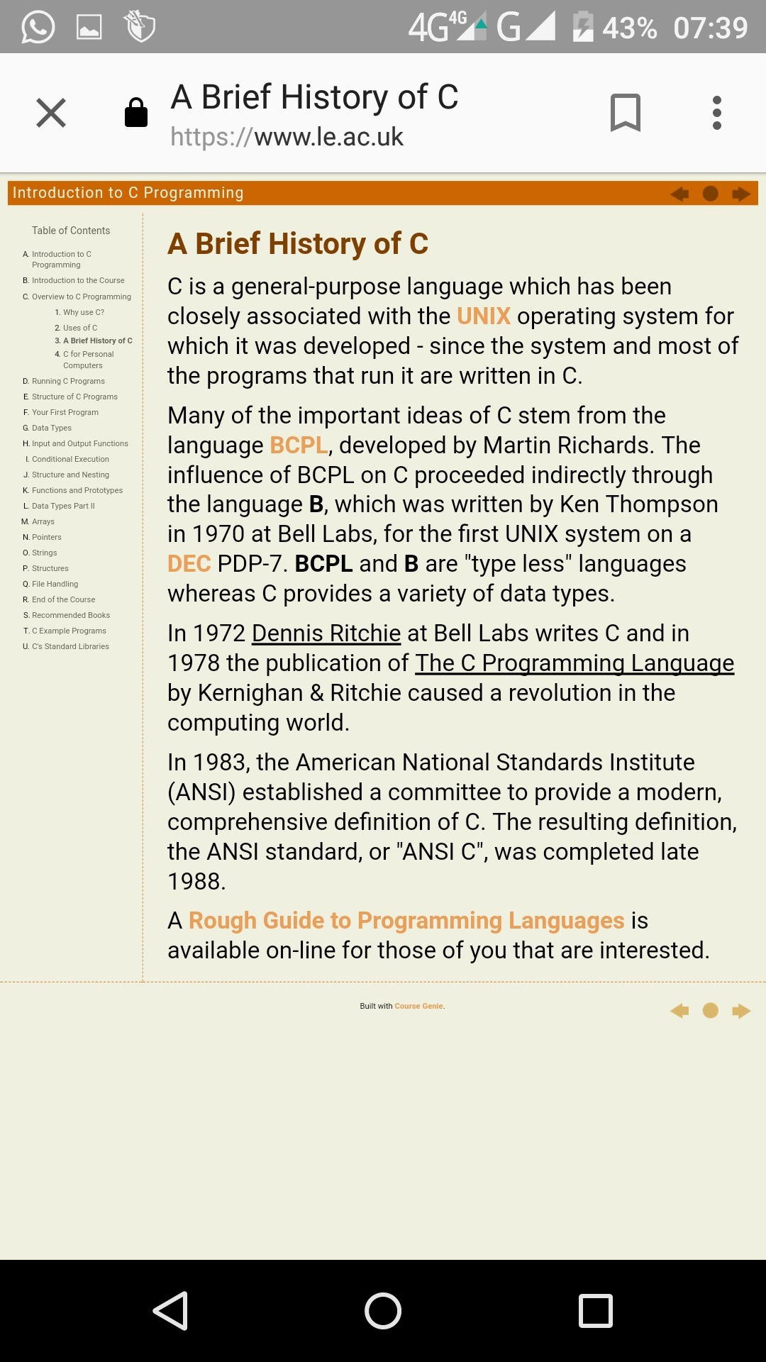 c3a4d982a5511f What is the history of c programming language? - Brainly.in