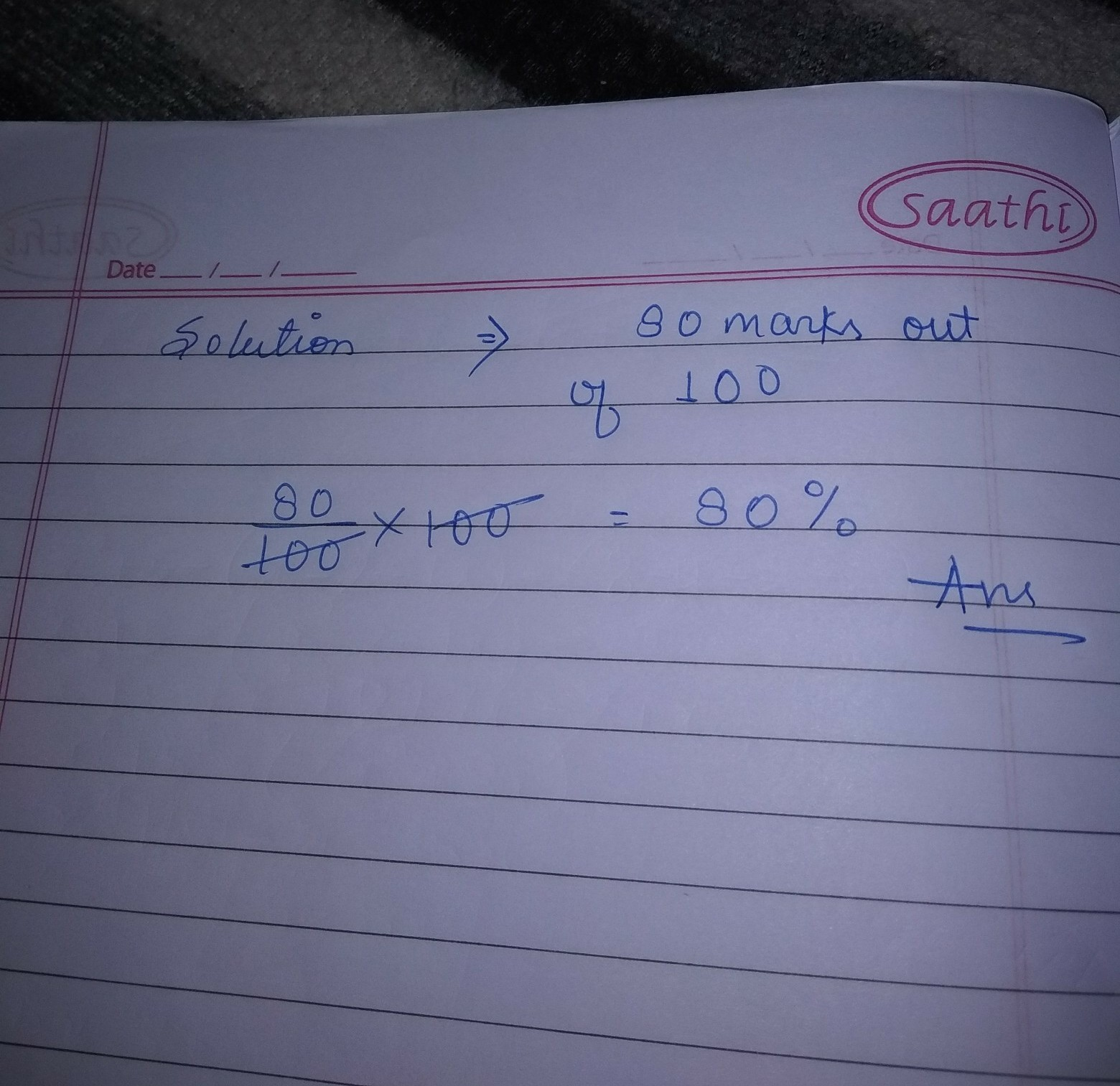 How To Convert 80marks Into 100