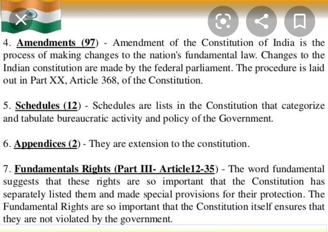 Mention Any Four Amendments Of Indian Constitution Done Through Political Consensus Brainly In