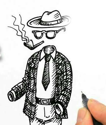 Invisible Man Easy Sketch Brainlyin