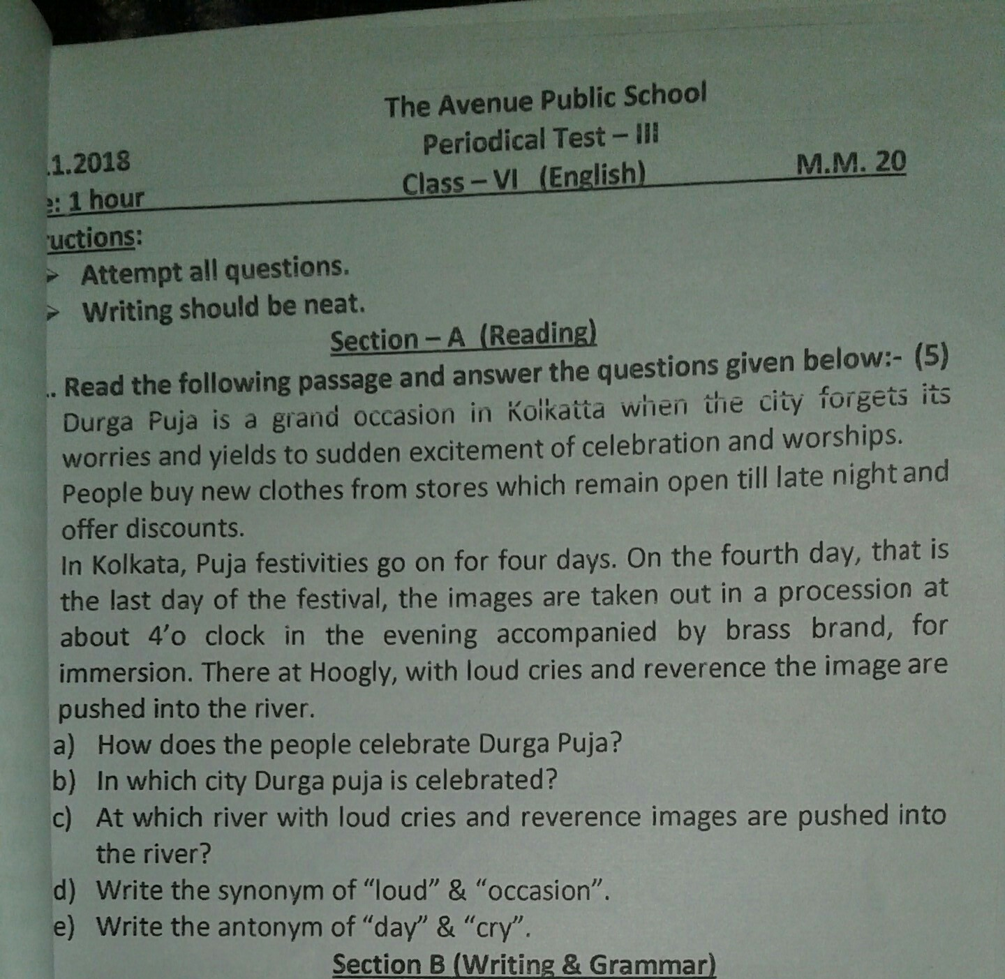 - Can I Get Comprehension Passages For Class 6 - Brainly.in