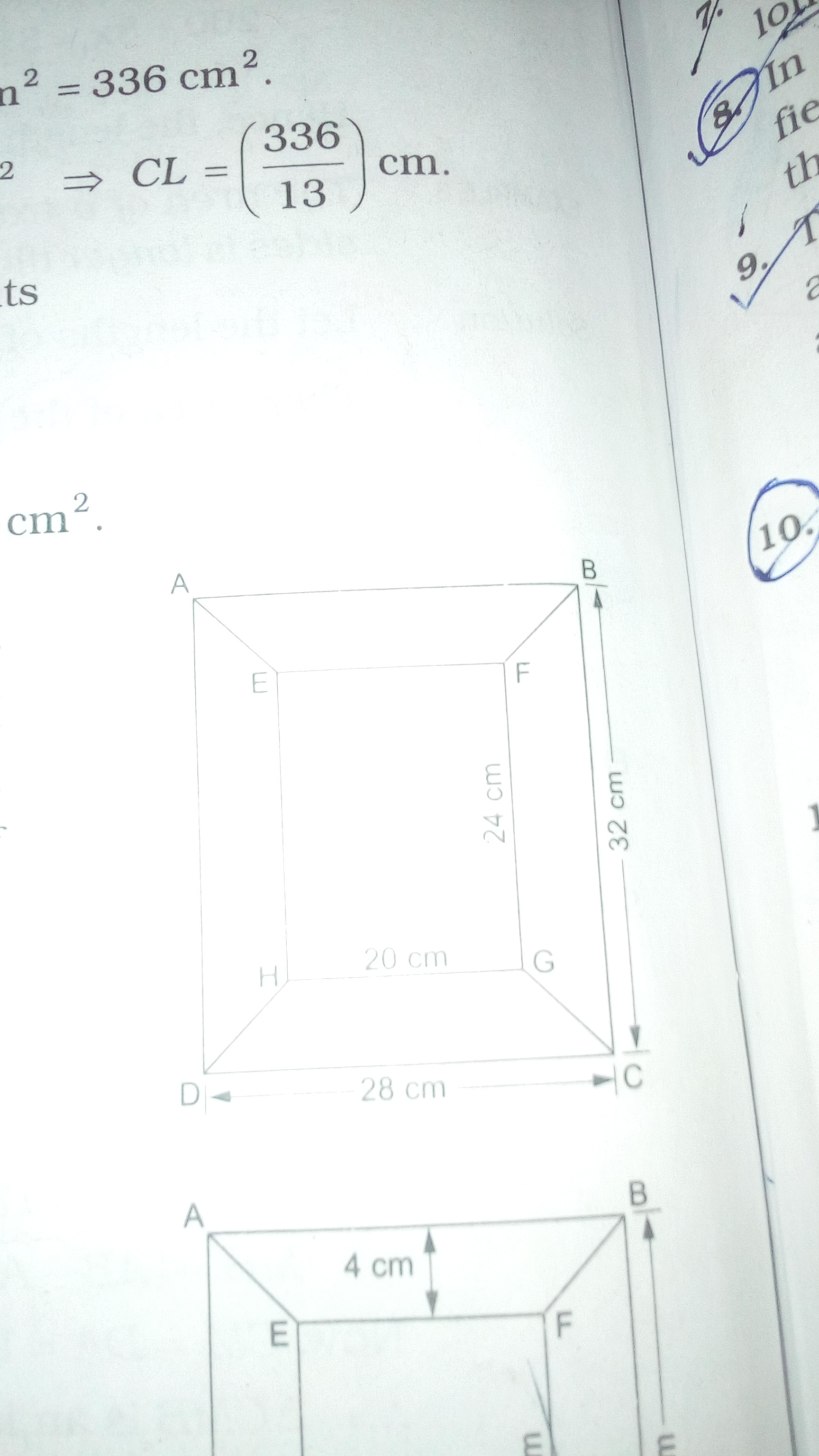 the adjacent figure shows the diagram of a picture frame