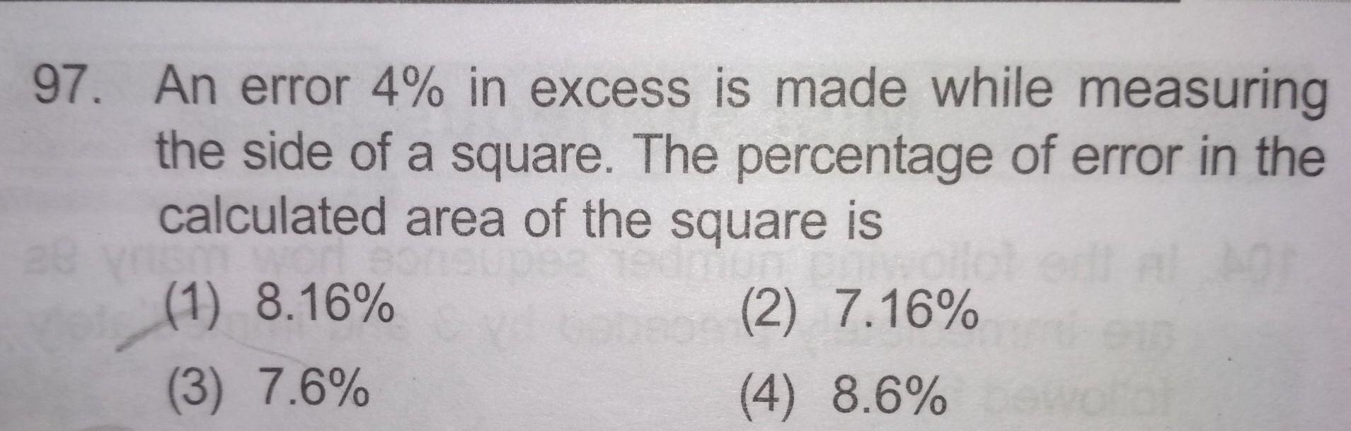 Percentage Error Question Brainlyin