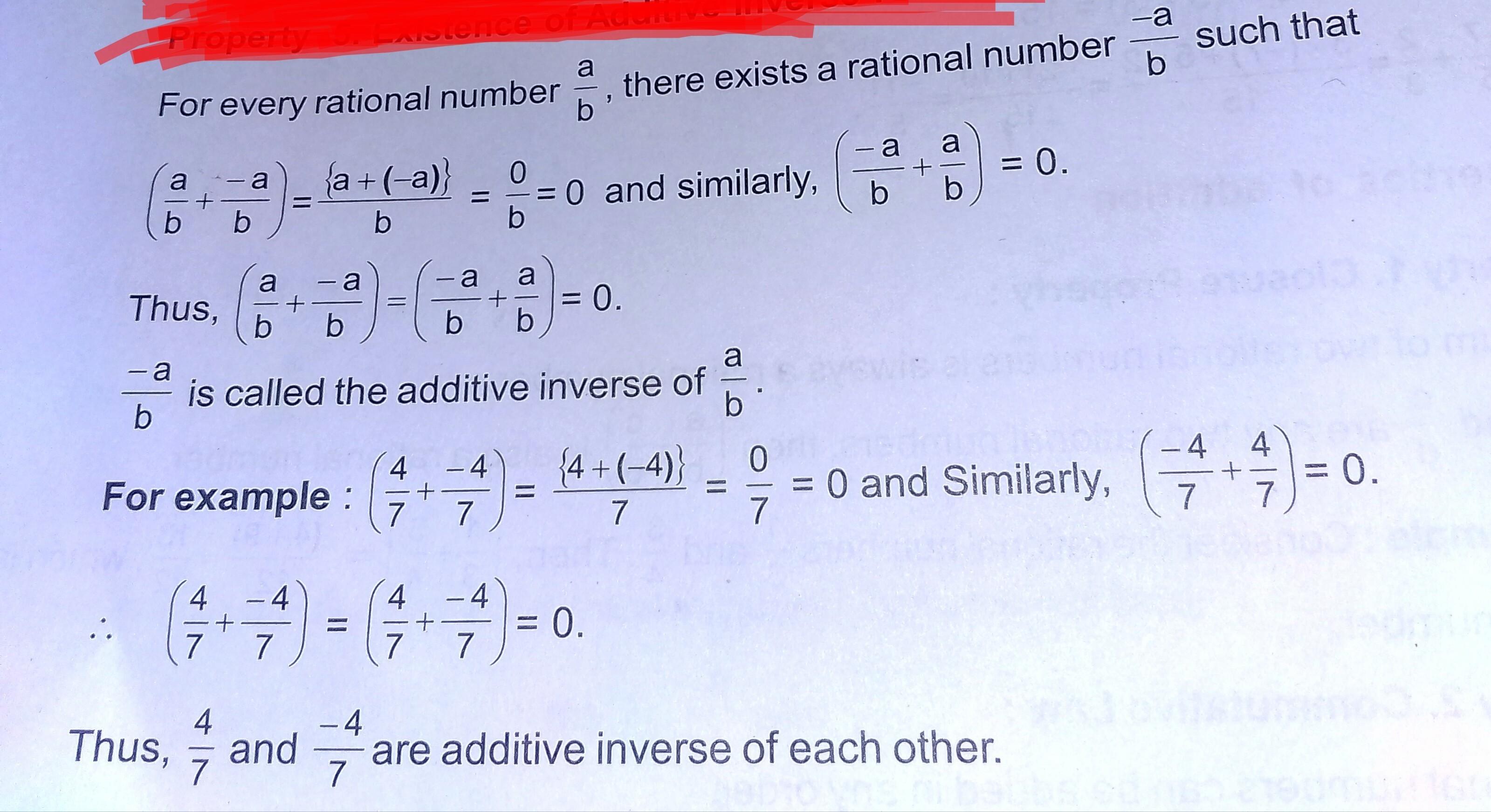 With The Help Of An Example Show That The Sum Of An Integer And Its
