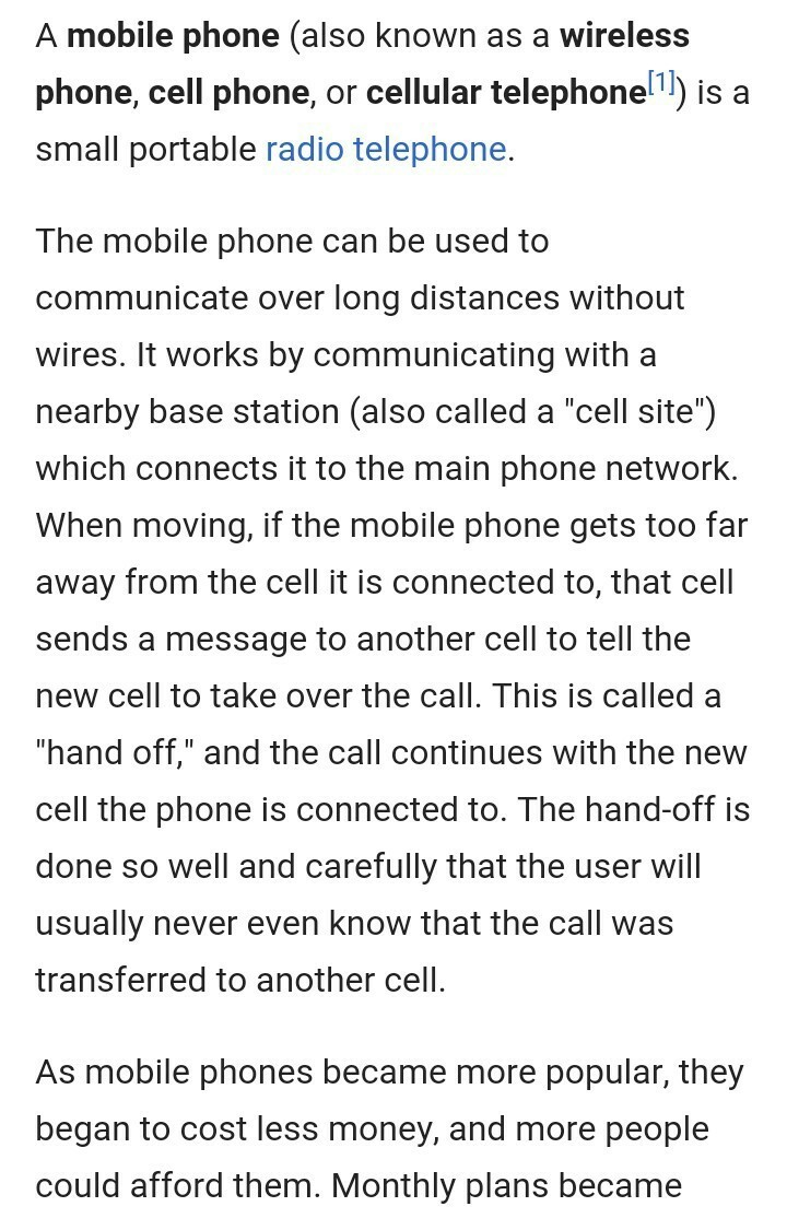write a essay on mobile phone
