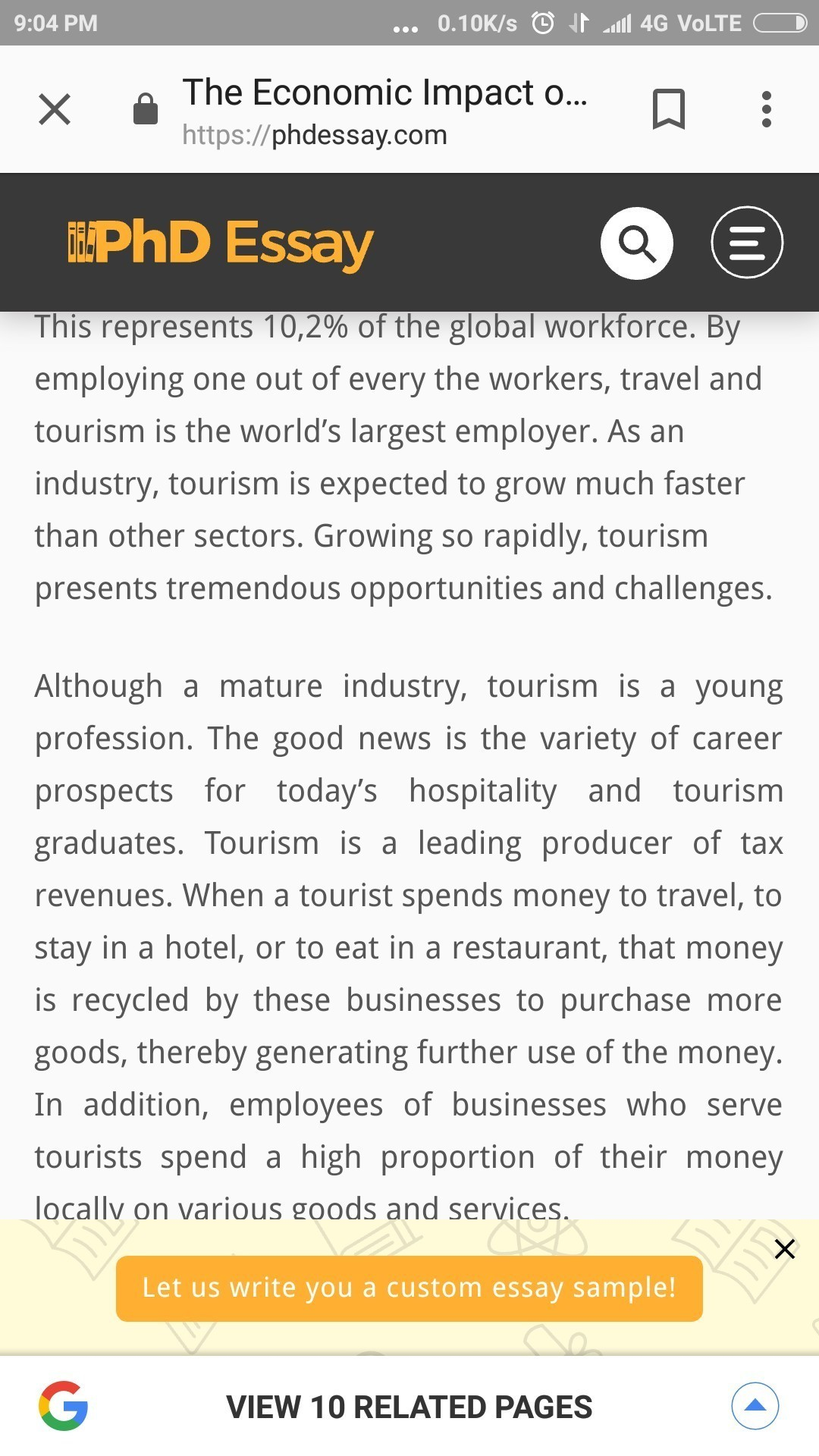social economic and environmental impacts of tourism