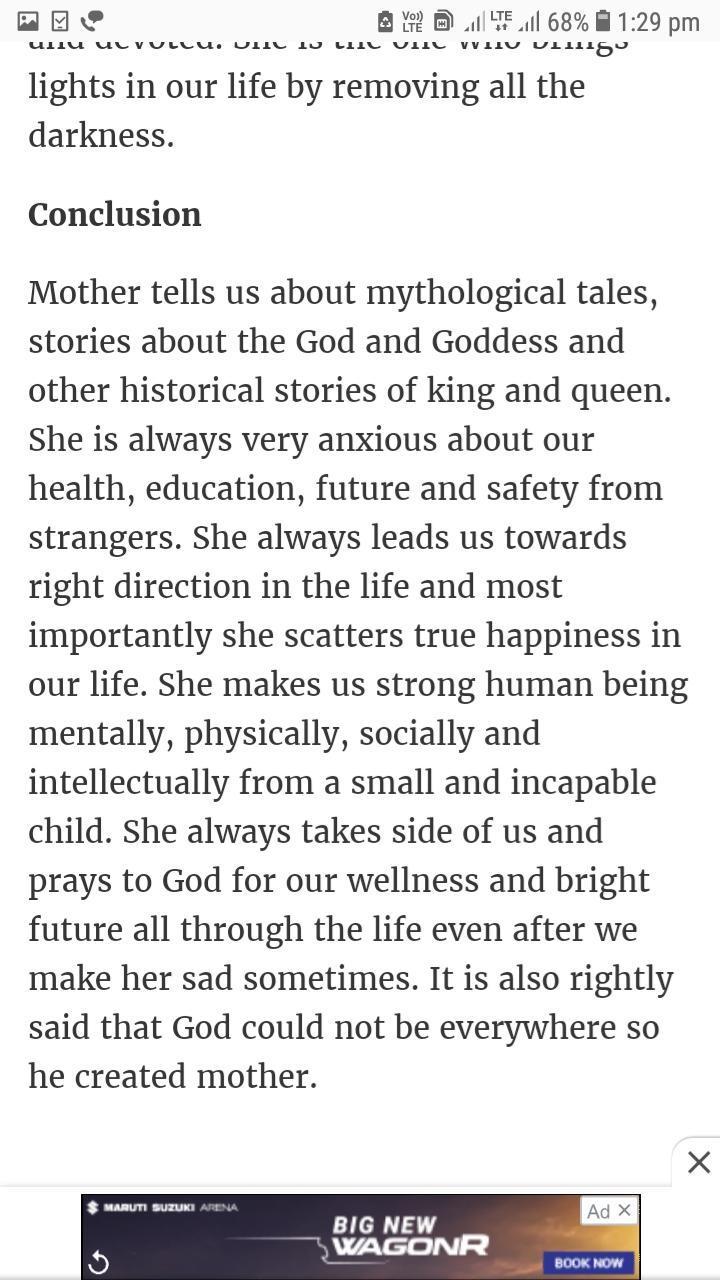 my mother essay in english   brainlyin