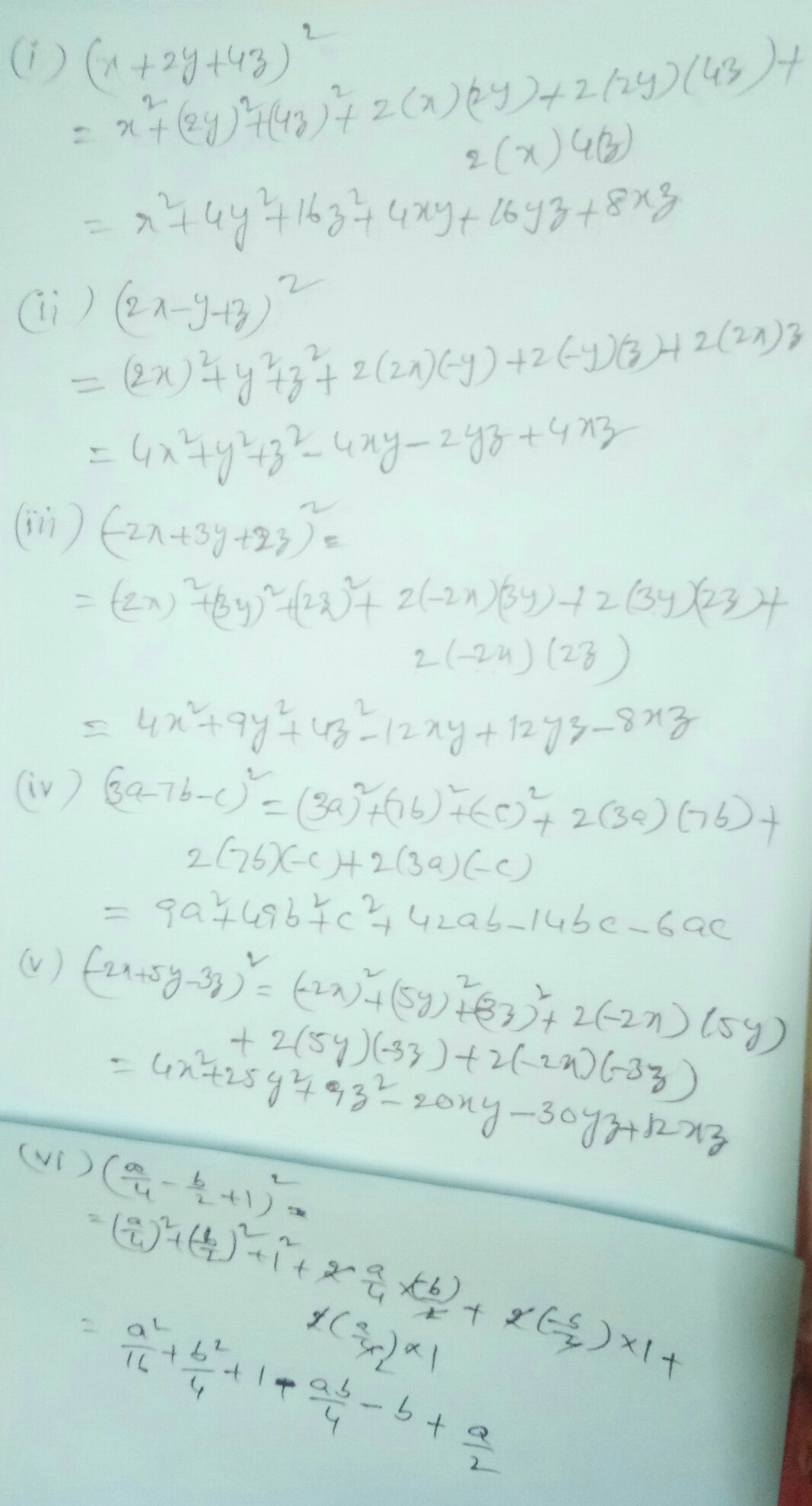 Expand Each Of The Following Using Suitable Identity I X2y4z²
