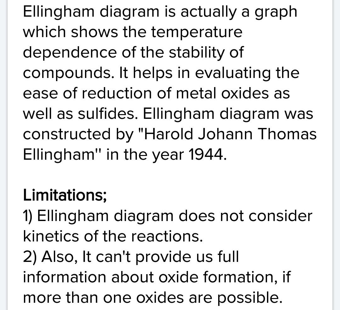Features and limitations of ellingham diagram brainly download jpg ccuart Image collections