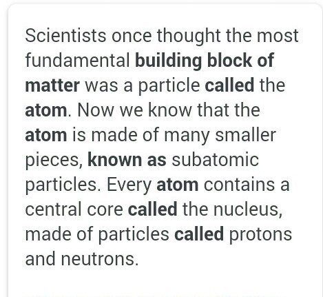 Why Atoms Are Called Building Blocks Of Matter