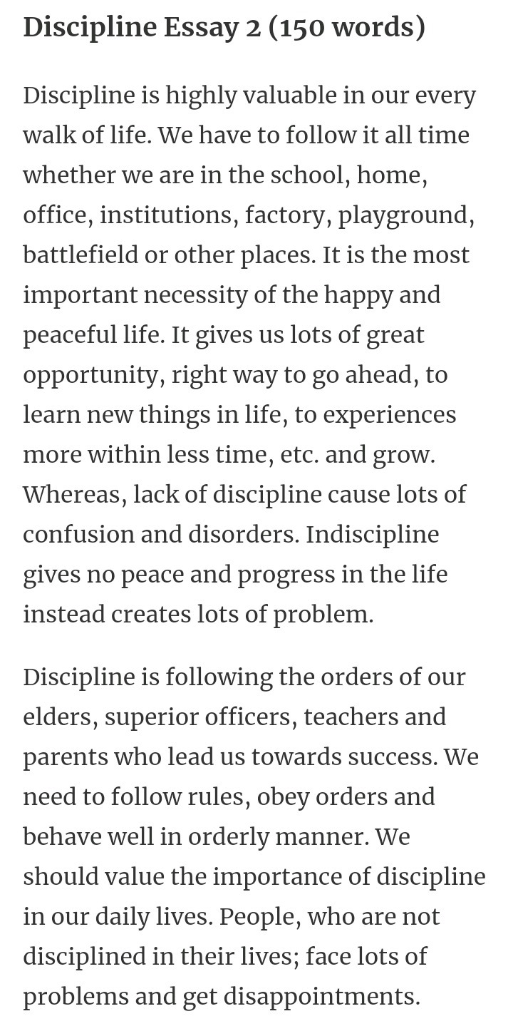 essay importance of discipline in students life