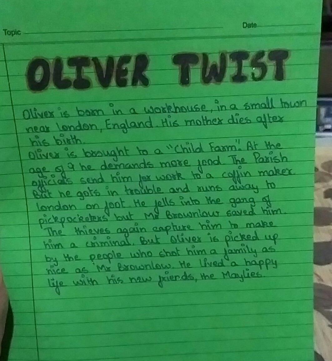 summary of oliver twist in 300 words