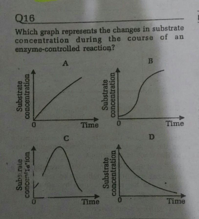 Q16..Which graph represents the changes in ...