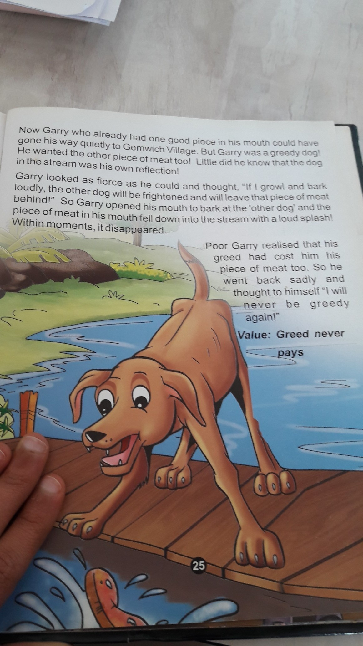 read the line and complete the story One day a dog found a