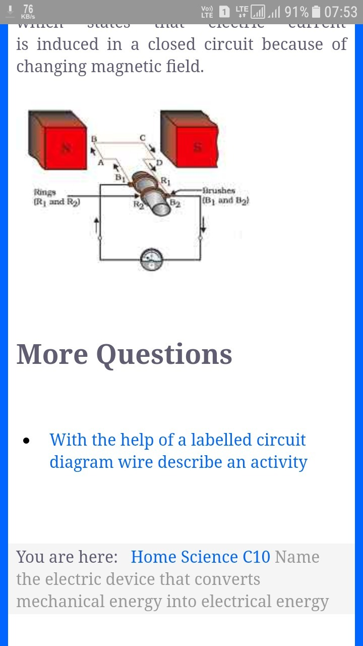 Name The Electrical Device That Converts Mechanical Energy Into Diagram Download
