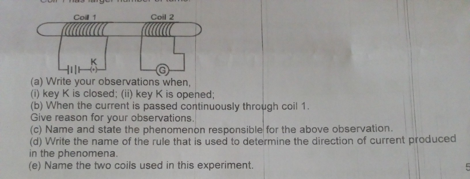 Two coils of insulated copper wire are wound over a non conducting ...