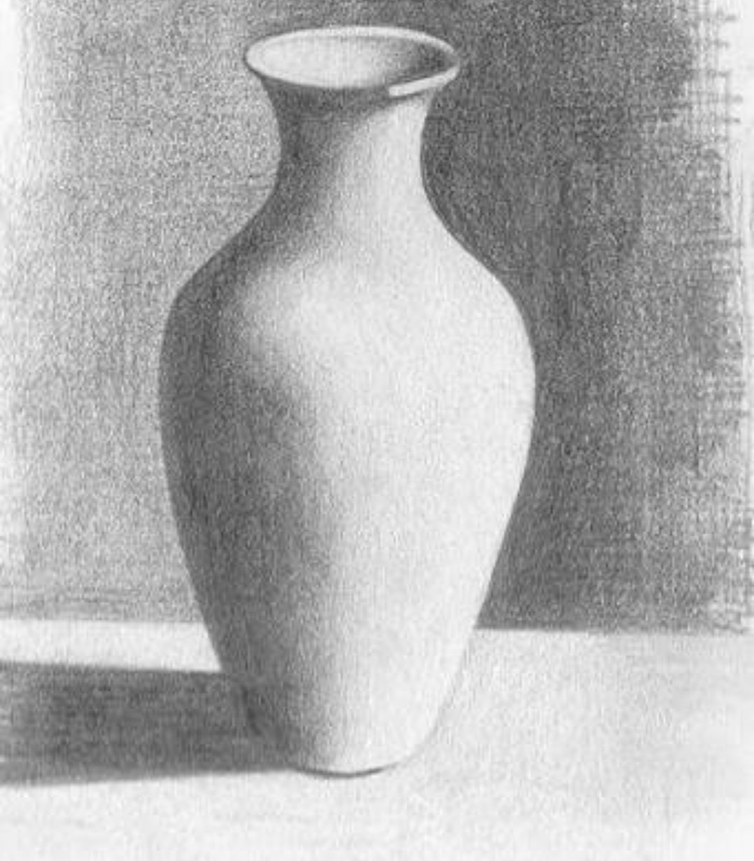 Pot and glass drawing with pencil shade brainly in