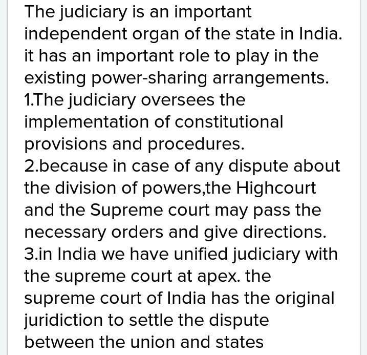 What is the role of judiciary in i Plementation of constitutional