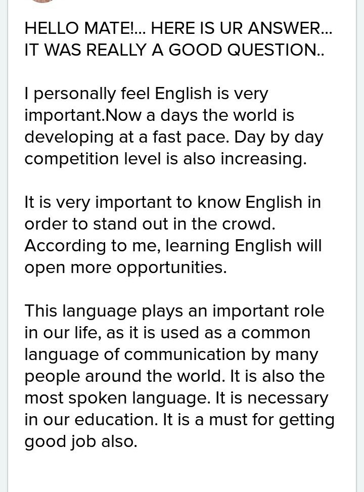 importance of english in our life