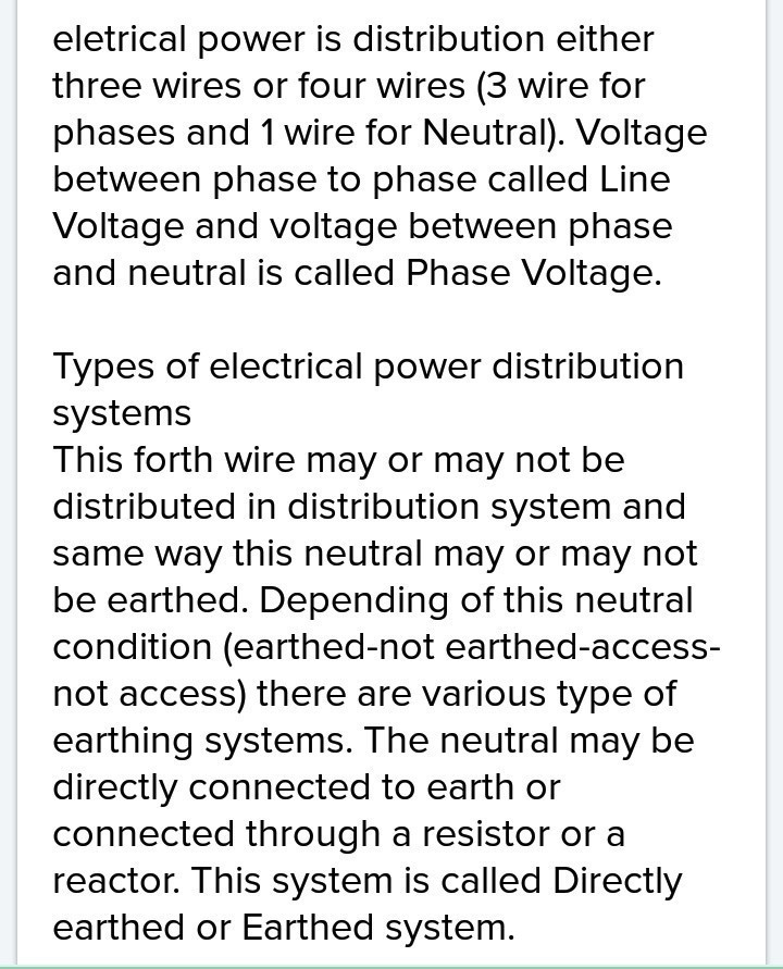 name the two systems used for distributing power in a house or ...