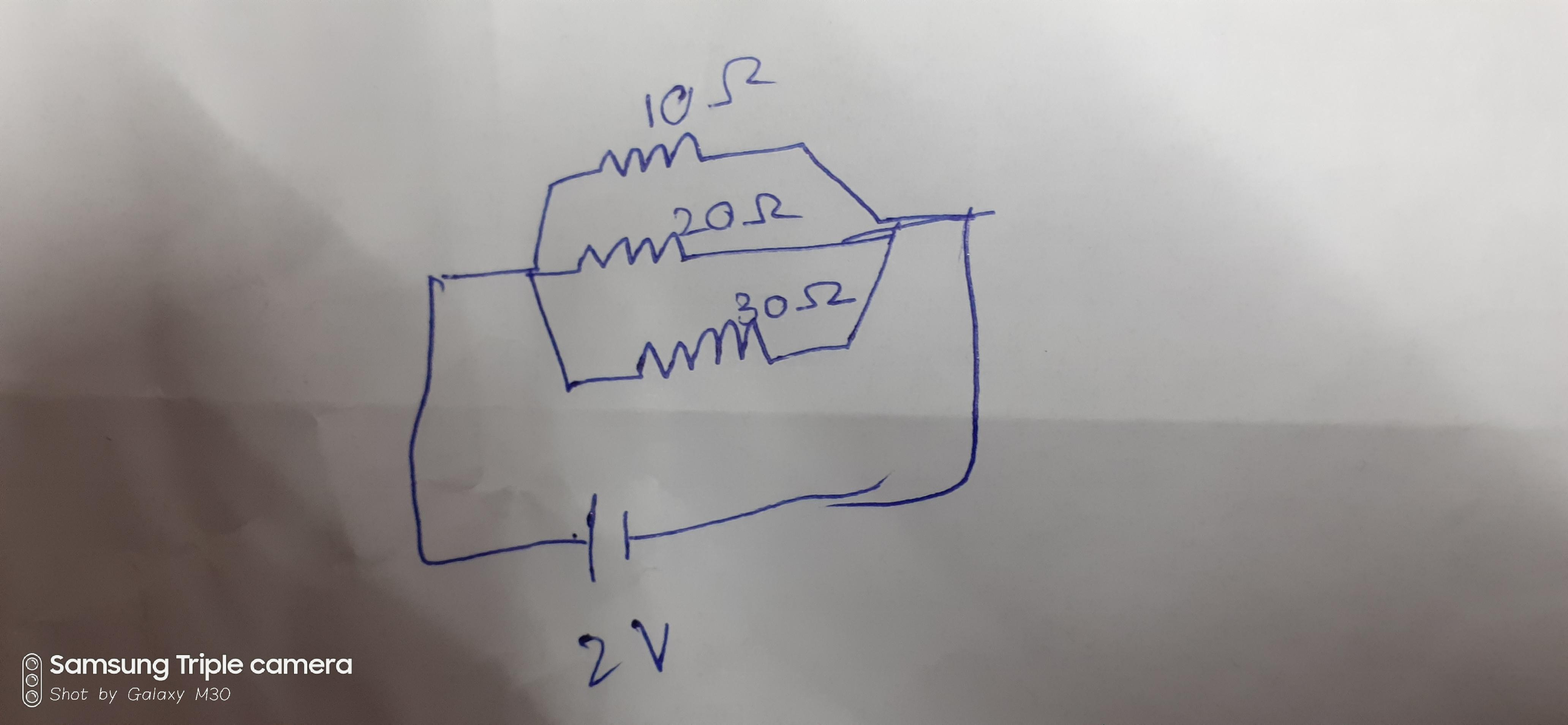 Draw schematic diagram of a circuit consisting of a ...