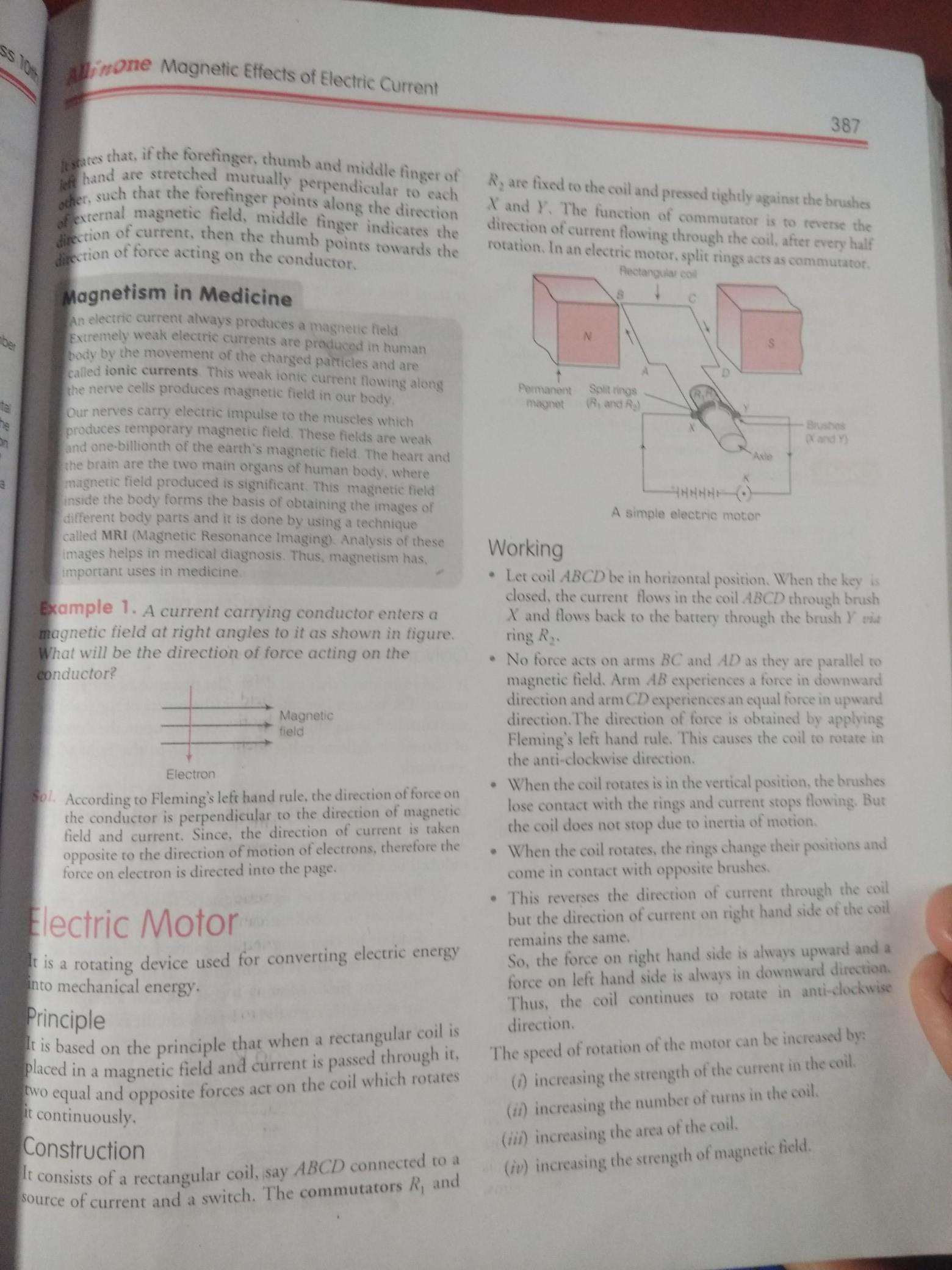 electric motor principle construction working - Brainly in