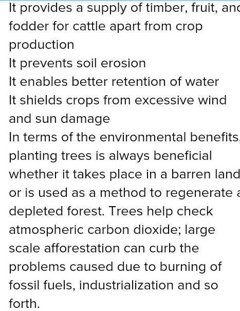 10 benefits of afforestation