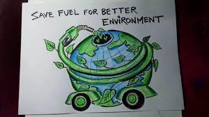 Show me a nice poster with slogan on topic save fuel for better