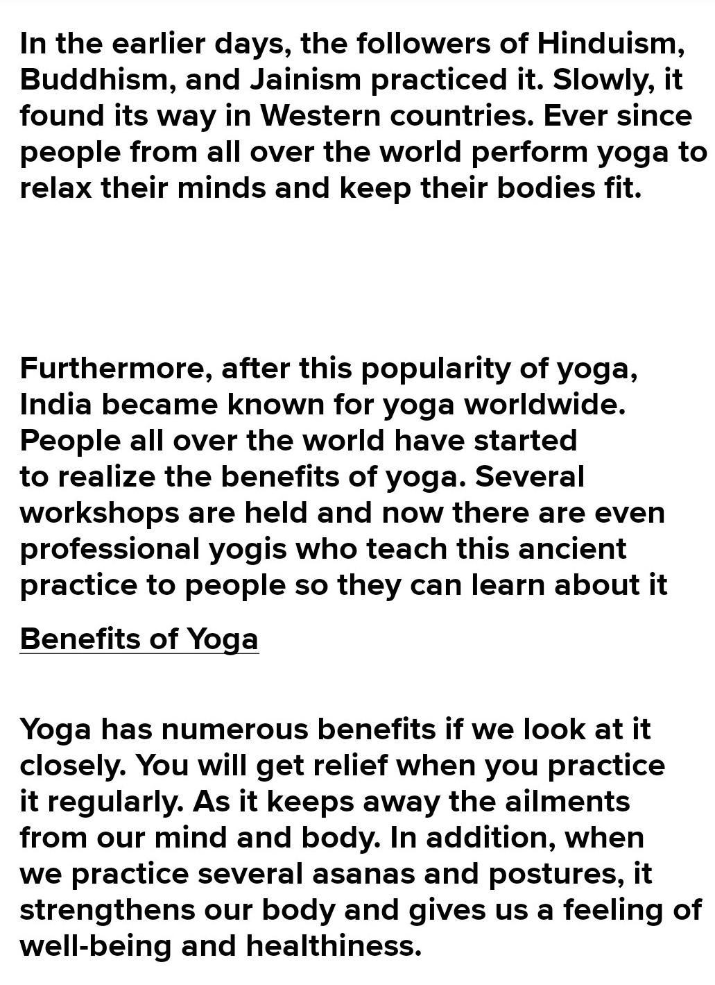Essay Writing On Yoga The Ancient Art Of Well Being Words Limited 500 Brainly In