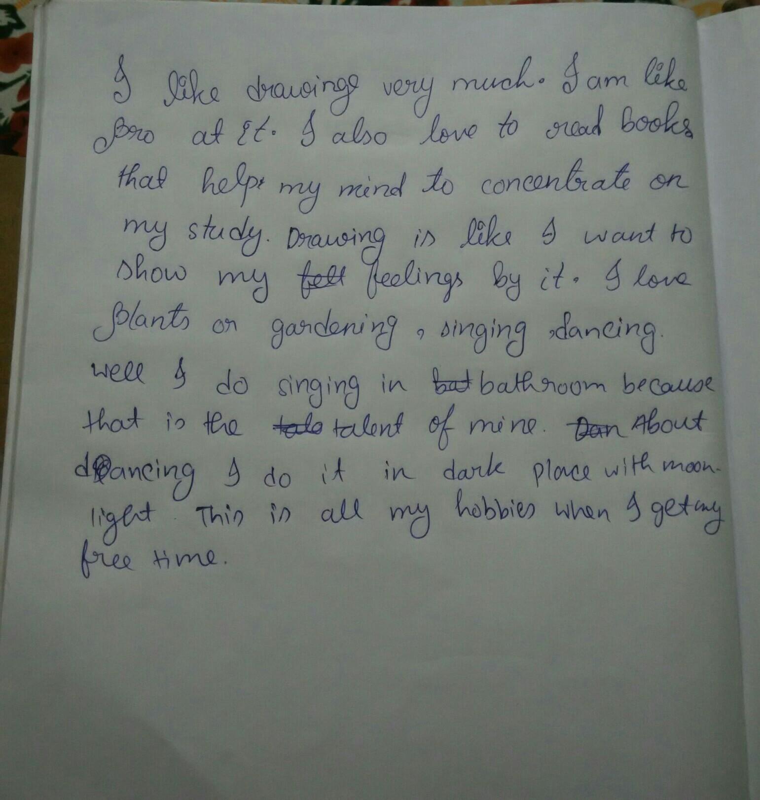 Write 10 Lines On My Hobbies In English Brainlyin