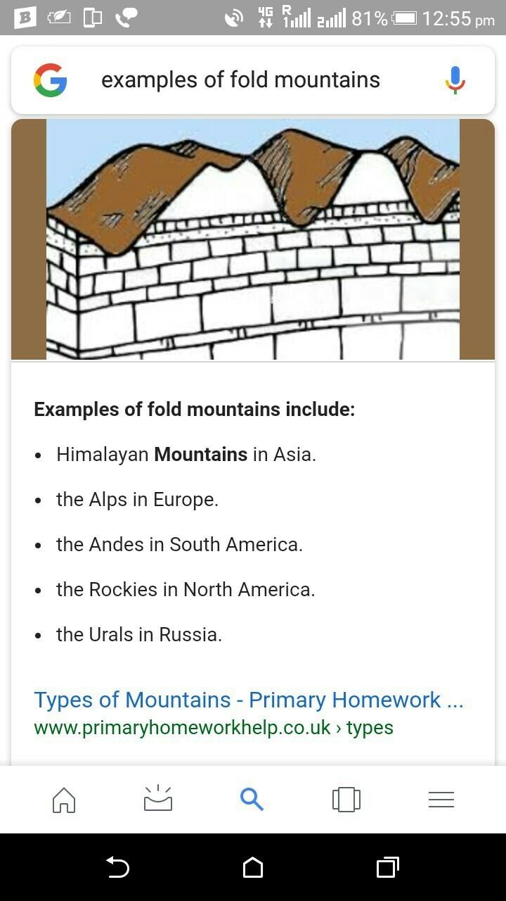 Primary homework help fold mountains