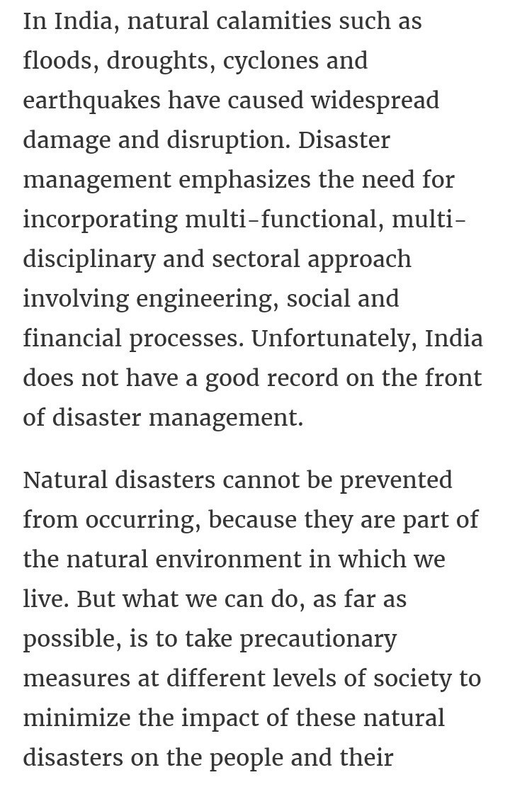 speech on natural calamities