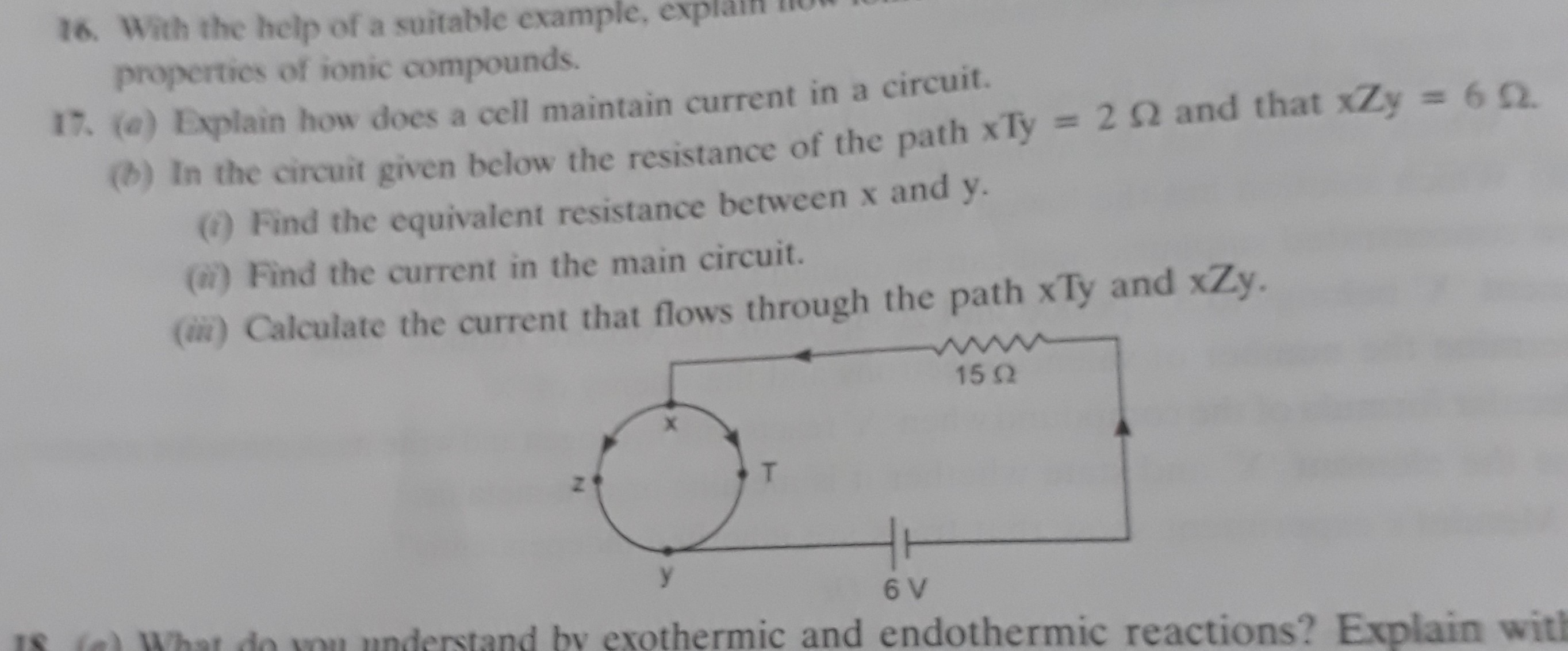 17th Question Plz Ans Fast Equivalent Resistance Circuit Examples