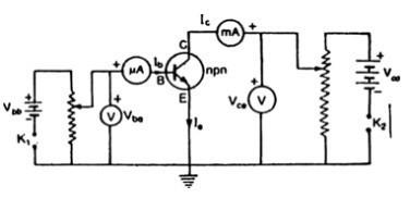 Draw a labelled circuit diagram of npn germanium ...