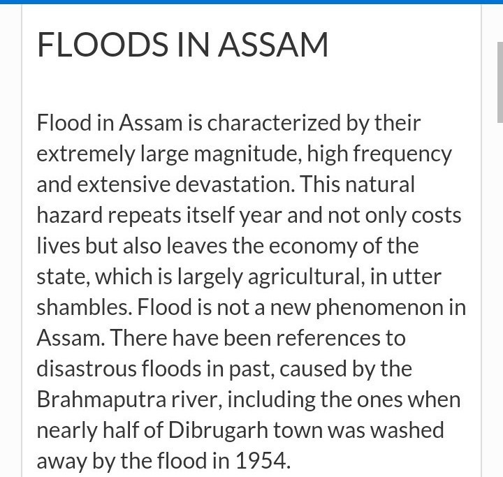 Essay on flood in assam in 150 words - Brainly.in