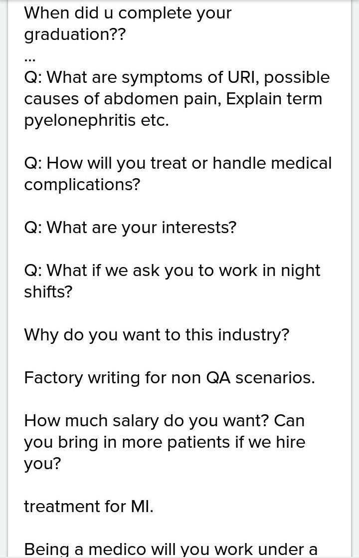 Write 10 Question To Interview A Doctor In Your Neighbourhood Who