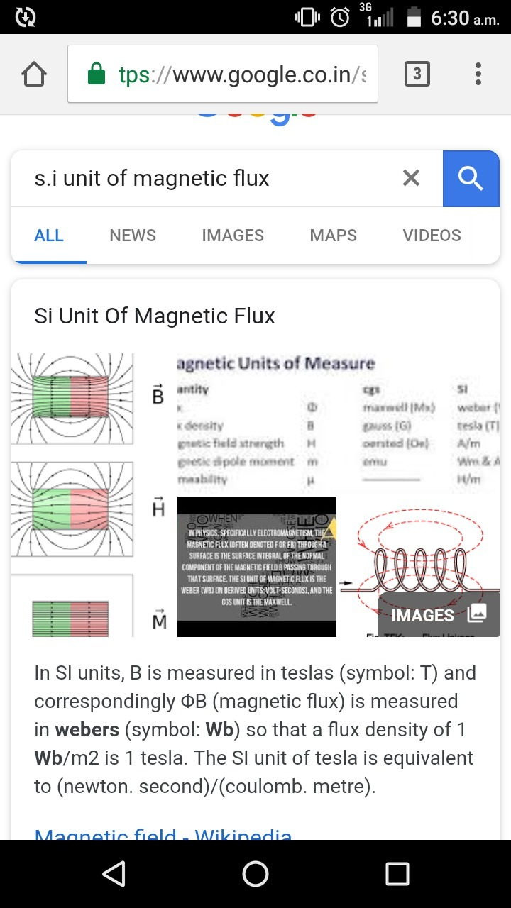 S  I unit of magnetic flux is - Brainly in