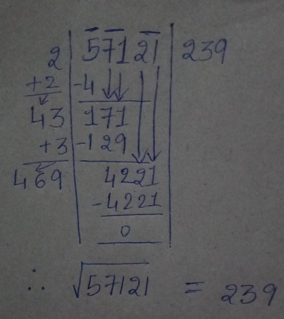 Find the square root of 56 by long division method. class