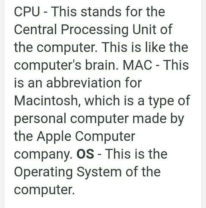 Acronym Of A Computer