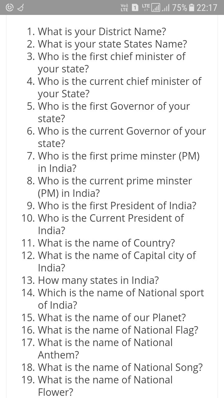 general knowledge questions for class 1 - Brainly.in