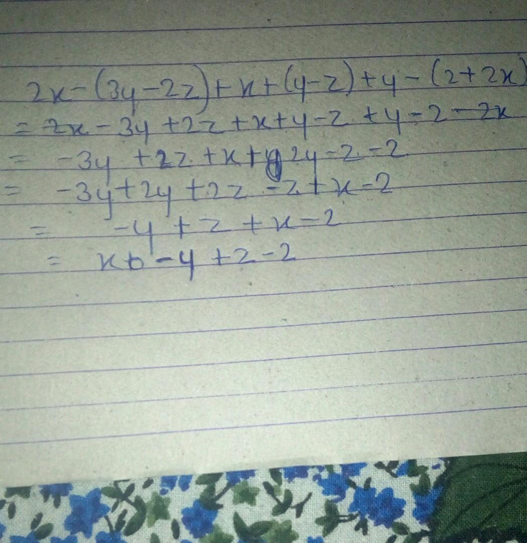Simplifyi 2x 3y 2z X Y Z Y 2 2x Brainlyin