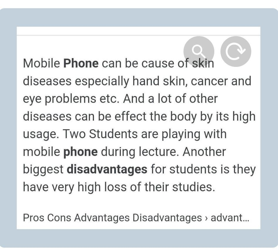 Essay of Advantages and disadvantages of cell phones