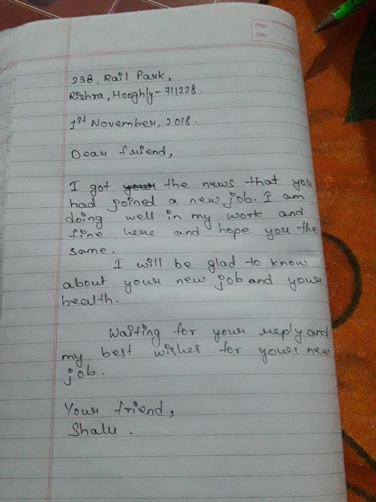 Write A Letter To Your Friend Asking Her About The New School She Joined Brainly In