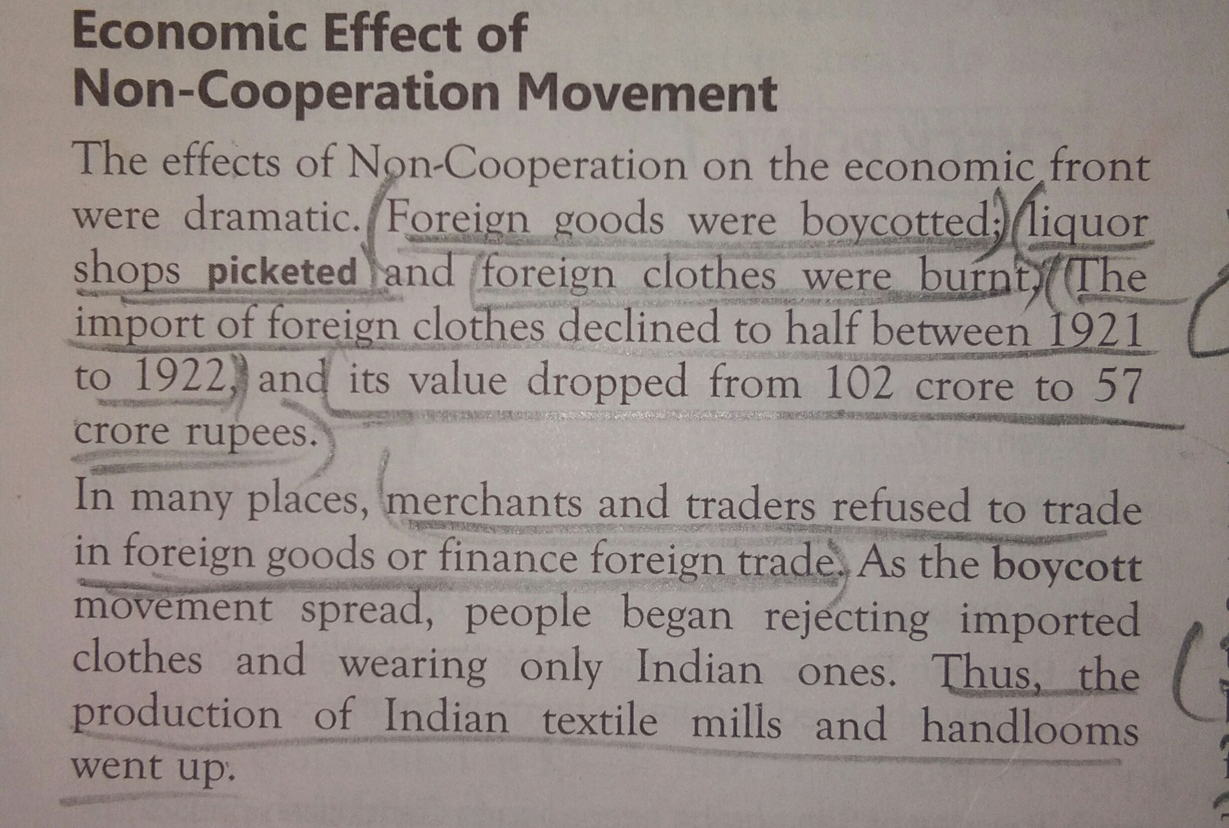 significance of non cooperation movement